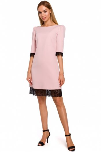 Rochie elegantă Moe roz