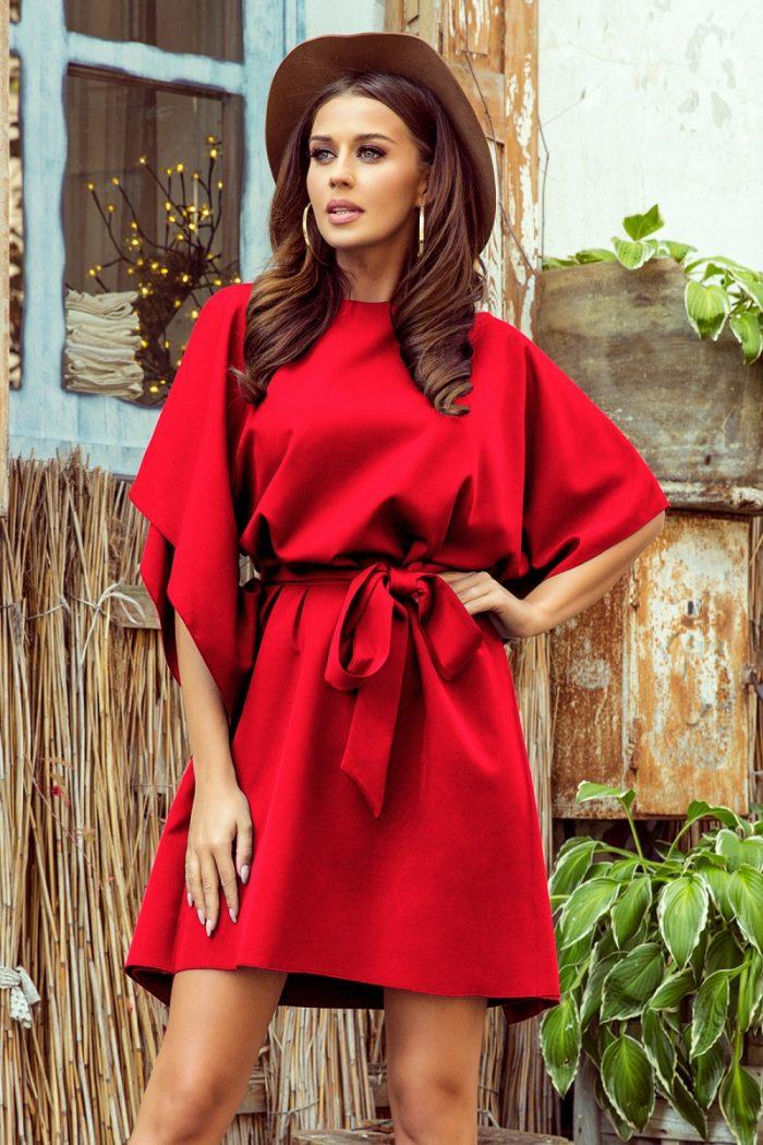 ~Sukienka dzienna Numoco roşu